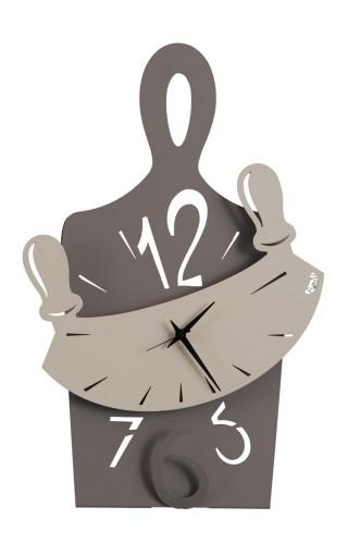 orologio da parete design master chef fango nocciola arti e mestieri