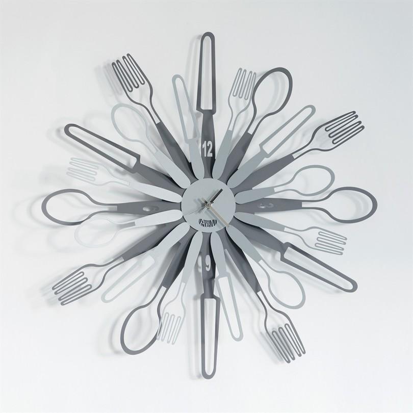 2851_C47 orologio sparecchiavo ardesia alluminio