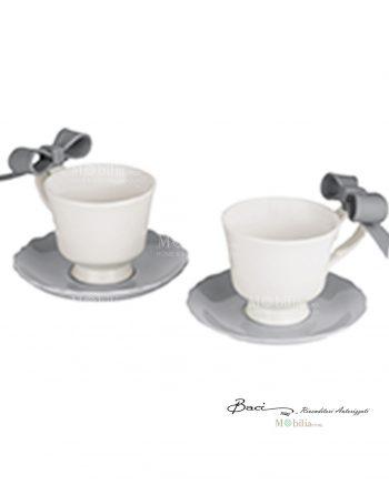 Tazzine caffè con piattino Baci Milano