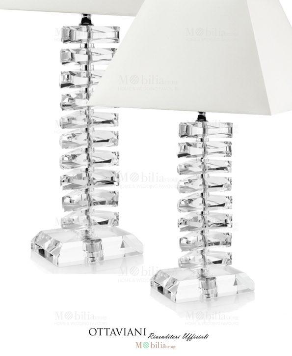 Lampada da tavolo cristallo Ottaviani