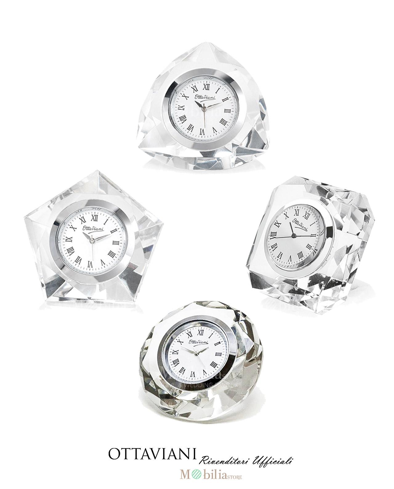 Orologio da tavolo cristallo ottaviani in offerta mobilia store home favours - Ottaviani orologio da tavolo ...