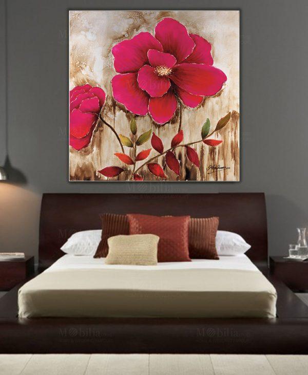 Quadro Red Flower Ottaviani