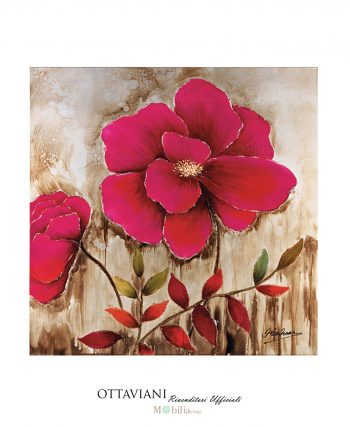 Quadro Red Flower Ottaviani