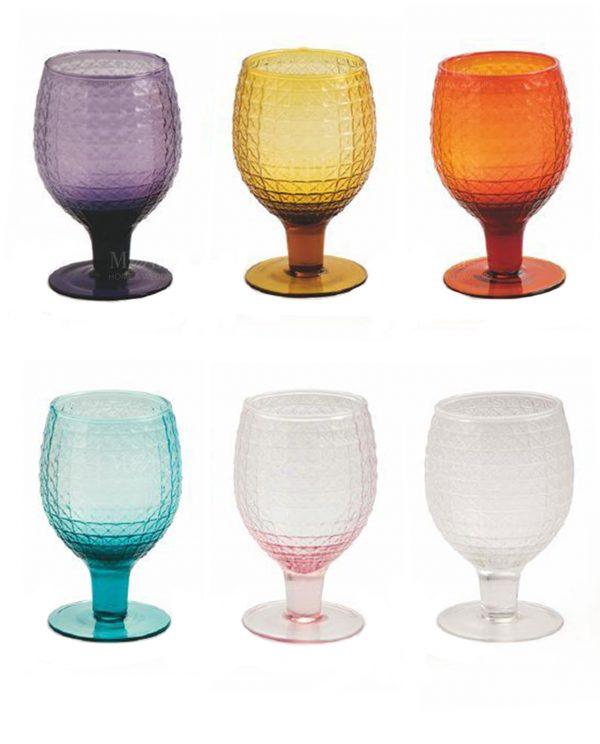 Calici vino colorati