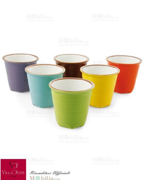 Set Tazzine Caffè Colorate Daily Villa d'Este