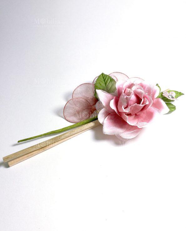 Fiore rosa portaconfetti
