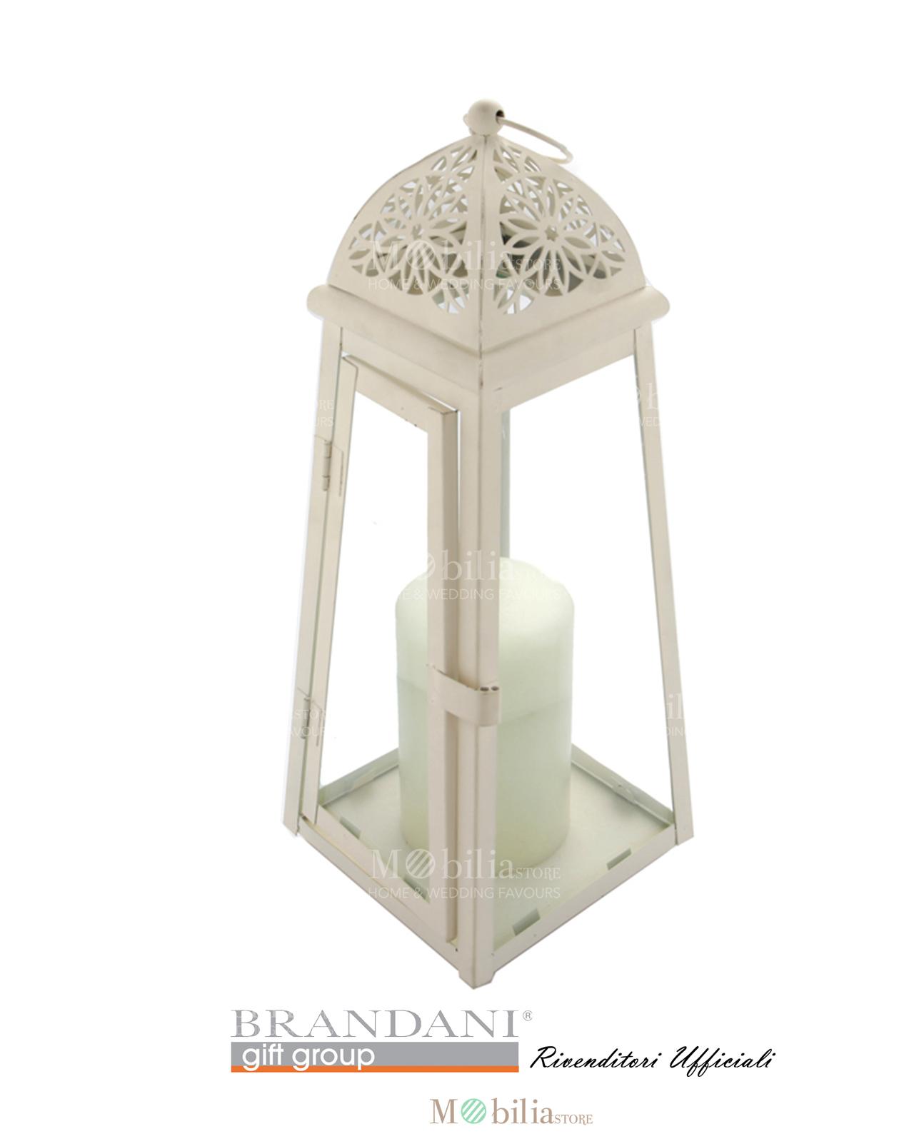 Lanterne brandani cattedrale bianche grandi metallo e vetro for Lanterne bianche