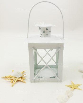 Lanterna Portacandela Economica-Lanterne Portacandele Economiche Metallo e Vetro