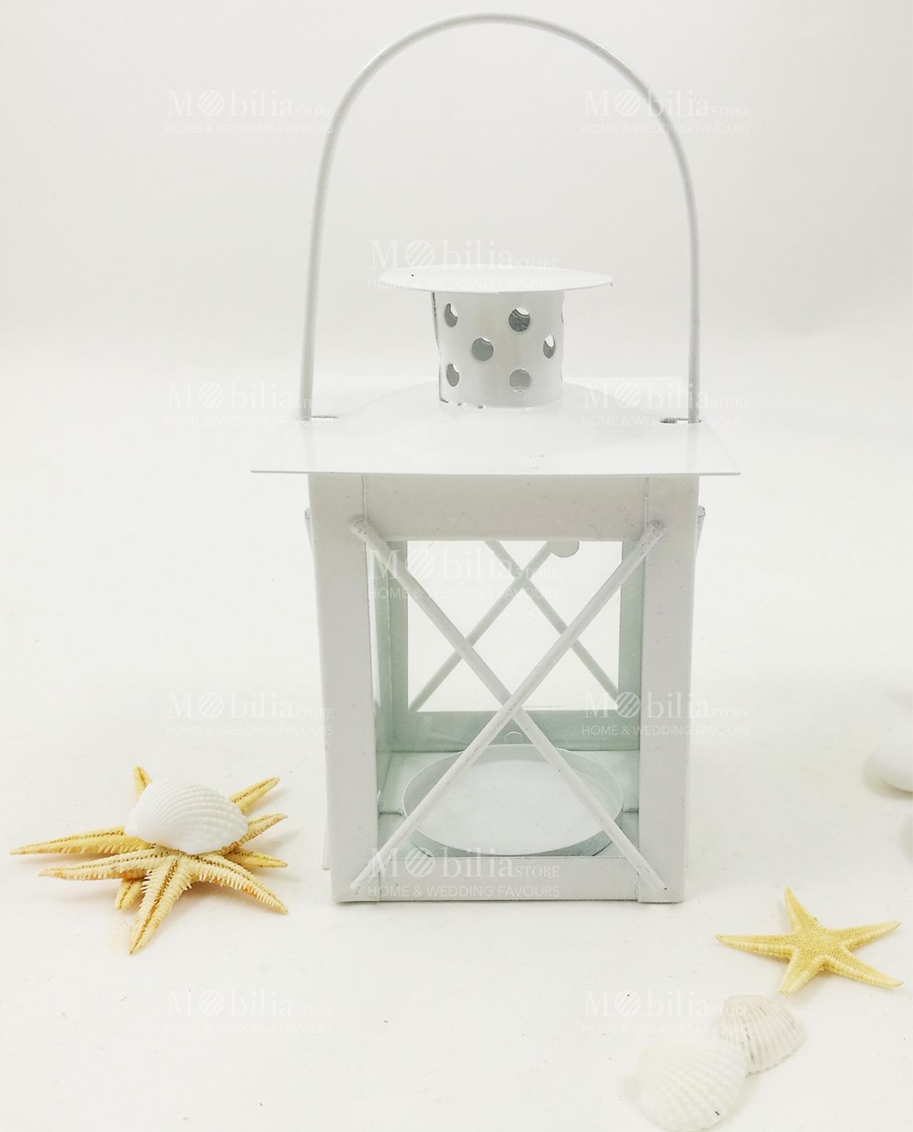 lanterne portacandele economiche metallo e vetro shabby chic