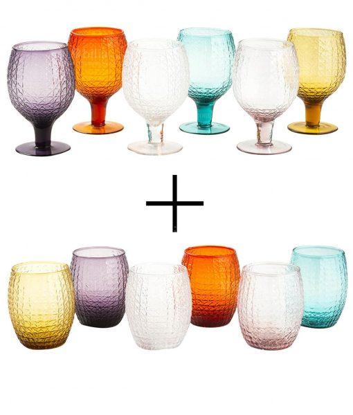Set bicchieri acqua e vino