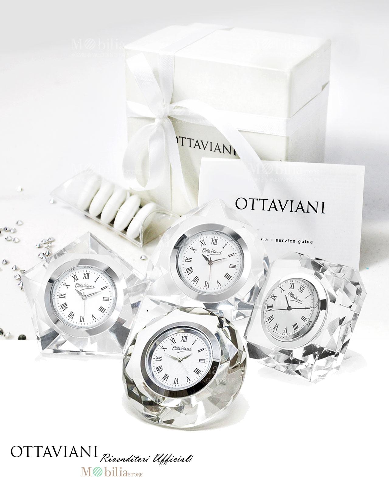 Orologio cristallo ottaviani bomboniere matrimonio for Mobilia home catalogo