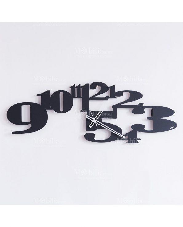 orologio da parete babel colore nero design arti e mestieri