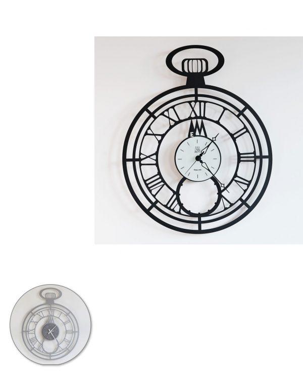 orologio da parete design big cipollone arti e mestieri due colori