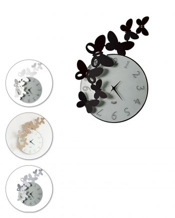 orologio da parete butterfly tondo 4 colori arti e mestieri