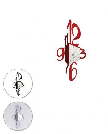 orologio da parete design corner tre colori arti e mestieri