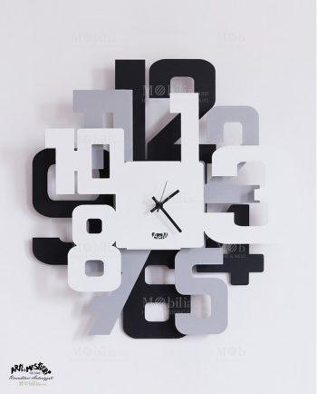 Orologio da Parete Moderno Big Sitter Argento Arti e Mestieri