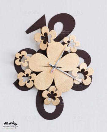 Orologio da Parete Design Margie Foglia Oro Arti e Mestieri