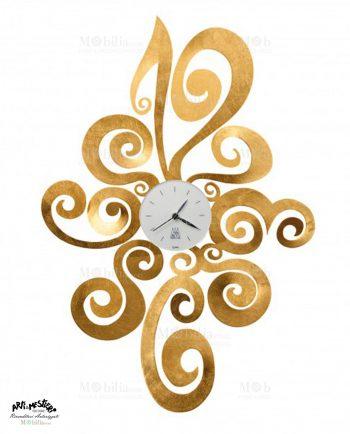 Orologio Arti e Mestieri da Parete Design Noemi Foglia Oro