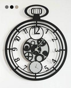 orologio da parete modello cipollone colore nero arti e mestieri