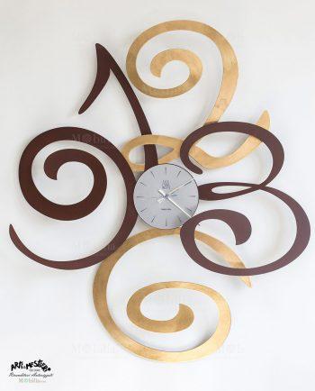 Orologio da Parete Moderno Filomena Foglia Oro Arti e Mestieri