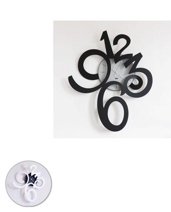 orologio da parete erasmu grande due colori arti e mestieri