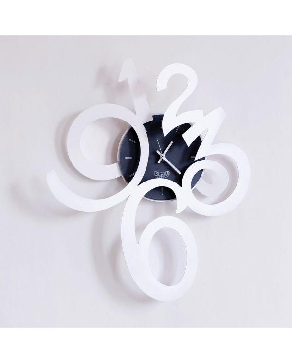 orologio da parete erasmus grande bianco arti e mestieri