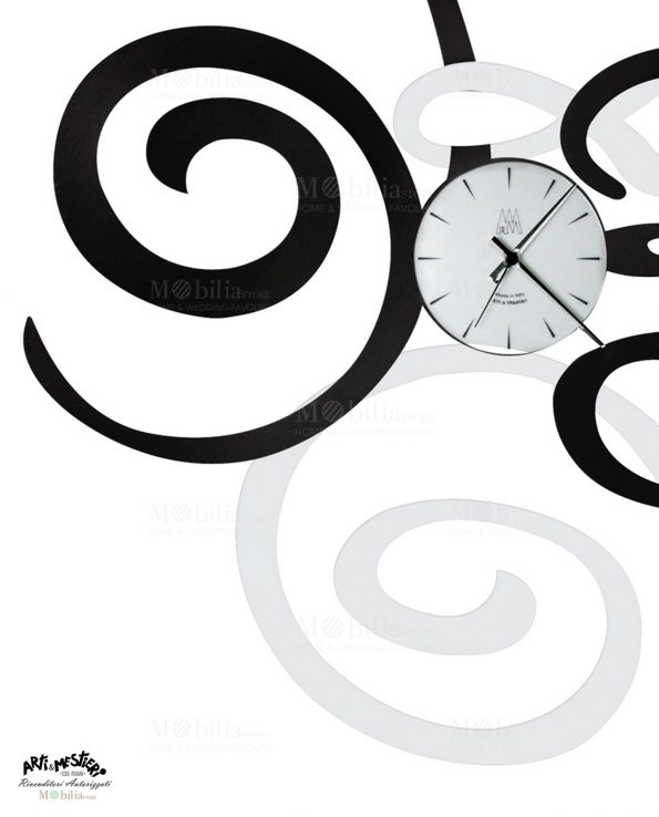 Orologio da Parete Moderno Filomena Nero Arti e Mestieri