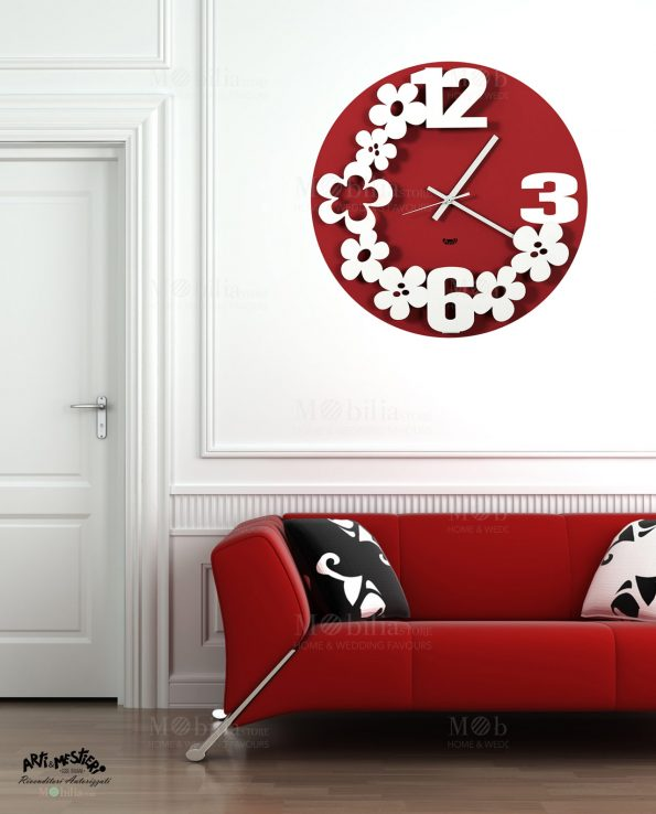 Orologio da Parete Design Flower Storm Arti e Mestieri