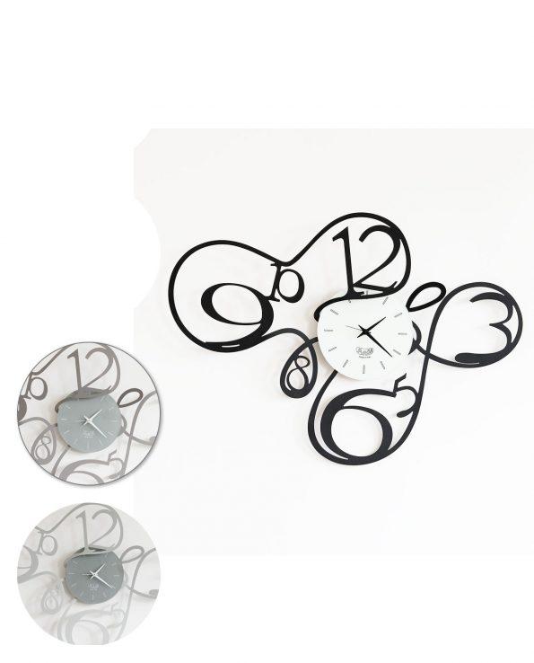 orologio ghirigoro 3 colori arti e mestieri