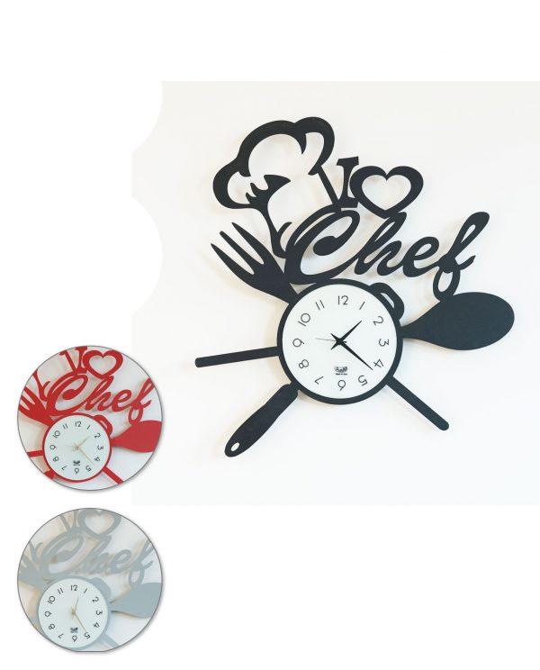orologio i love chef tre colori arti e mestieri