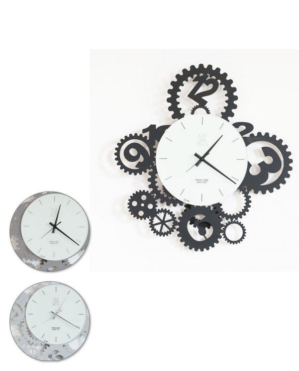 Orologio da parete design Ingranaggi Pendolo Arti e mestieri