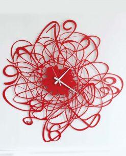 orologio modello doodle colore rosso arti e mestieri