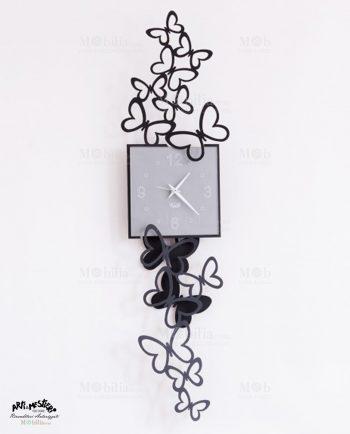 Orologio da Parete Design Butterfly con Pendolo Arti e Mestieri