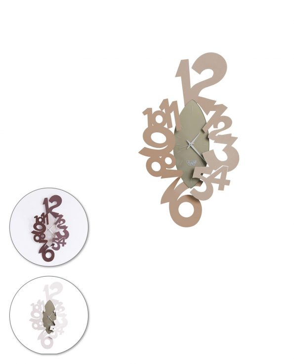orologio da parete ogiva tre colori arti e mestieri