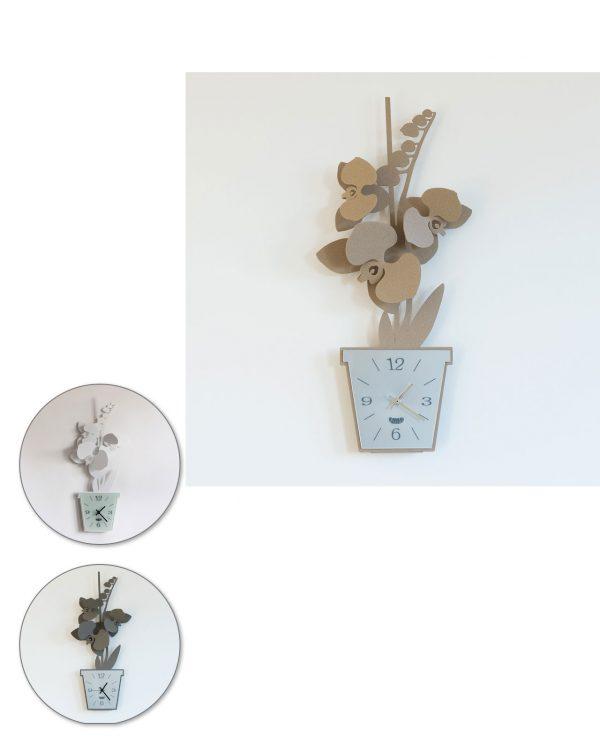 orologio da parete design orchidea arti e mestieri tre colori