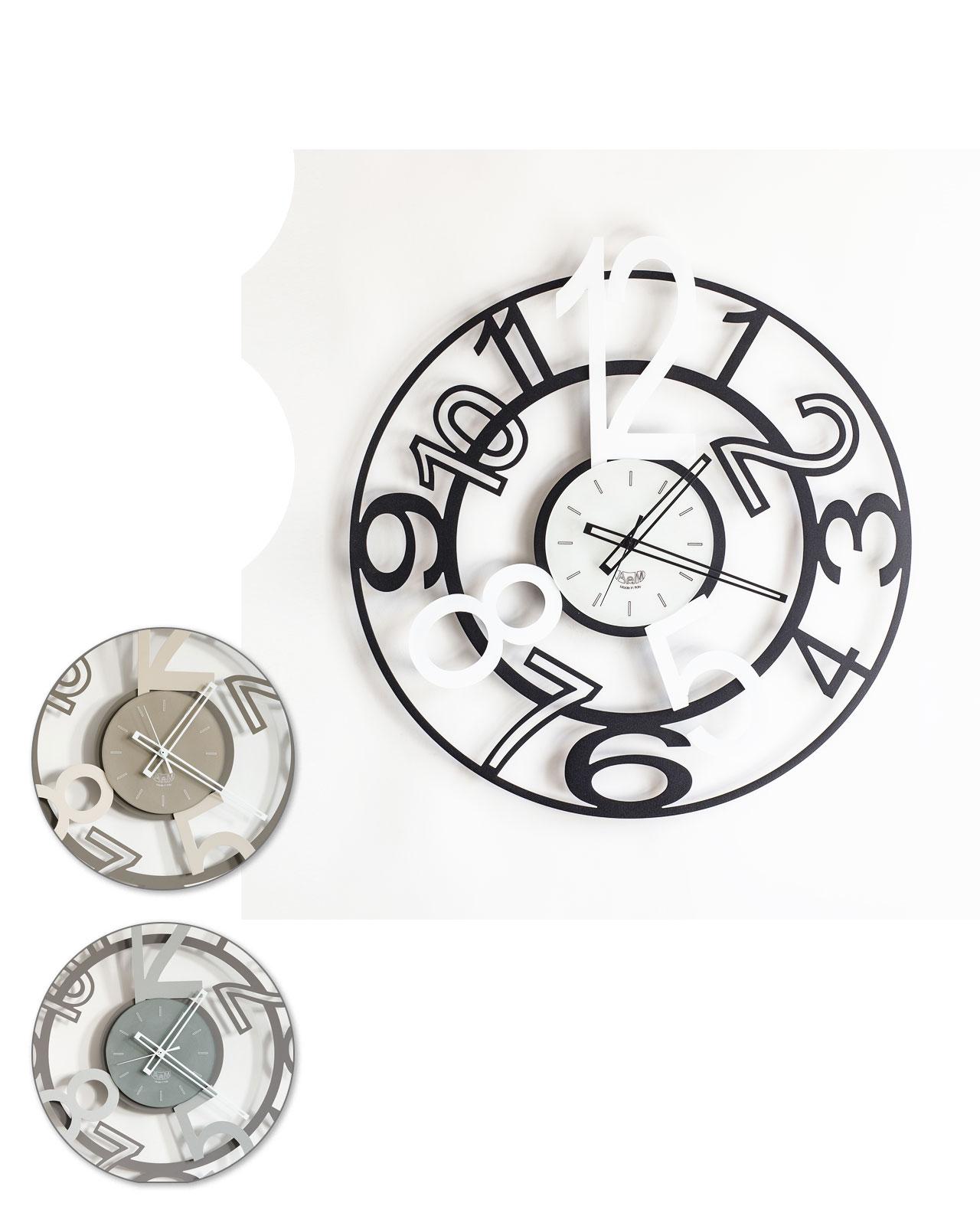 Orologio da parete design orione arti e mestieri for Orologi da parete moderni arte e mestieri