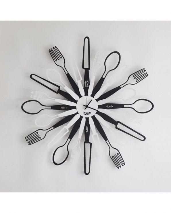 orologio sparecchiavo design arti e mestieri colore nero