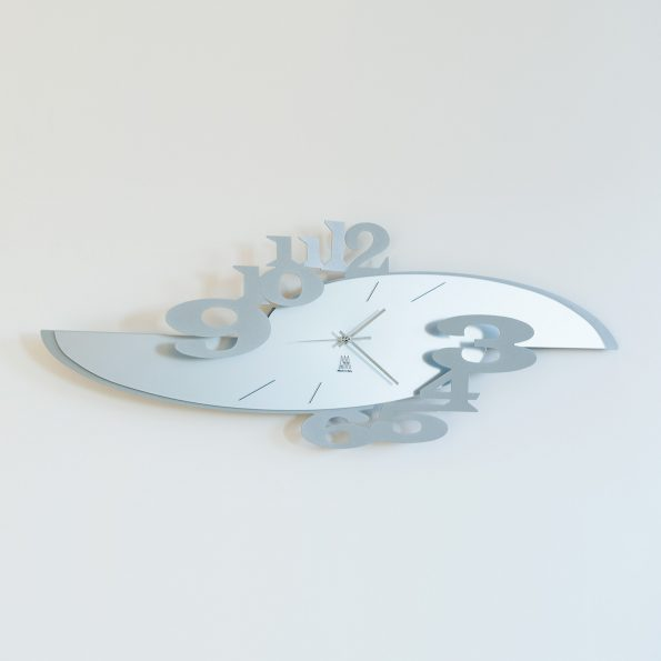 orologio da parete design ares colore alluminio arti e mestieri