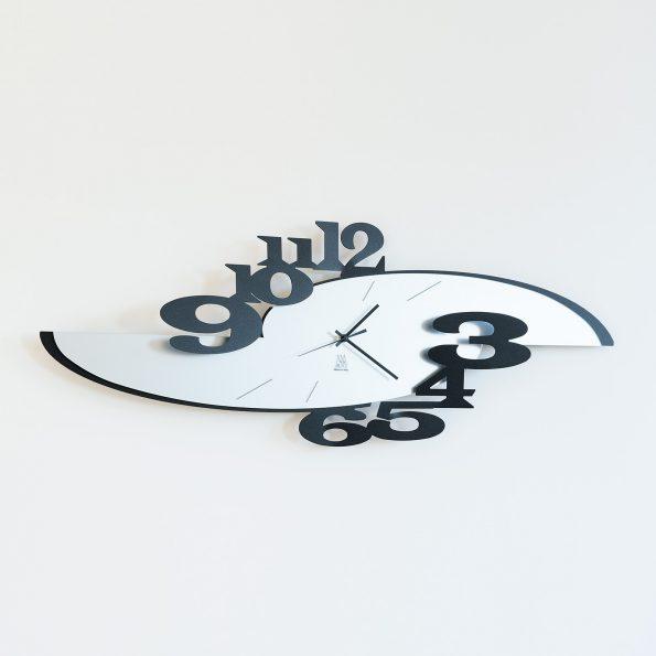 orologio da parete design ares colore nero arti e mestieri