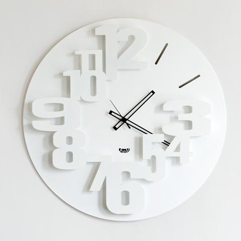 Orologio da parete design big perseo colore bianco
