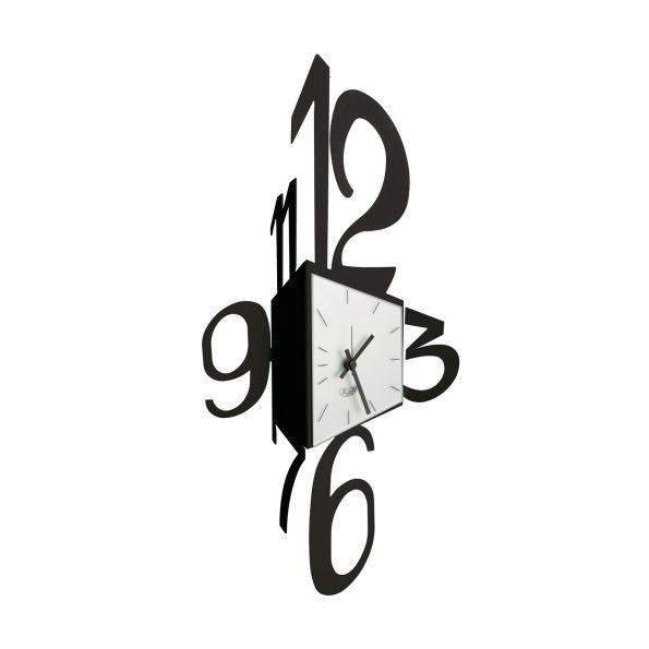 orologio da parete design corner colore nero
