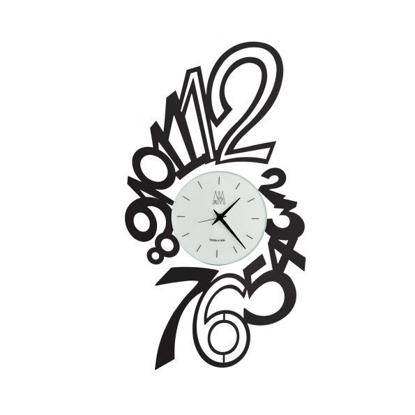 orologio da parete design edy nero arti e mestieri