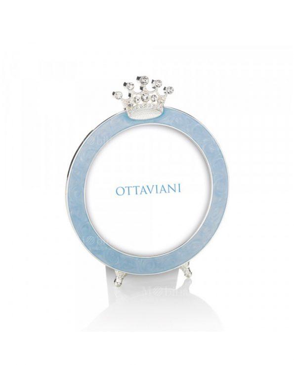 Portafoto rotondo azzurro Ottaviani
