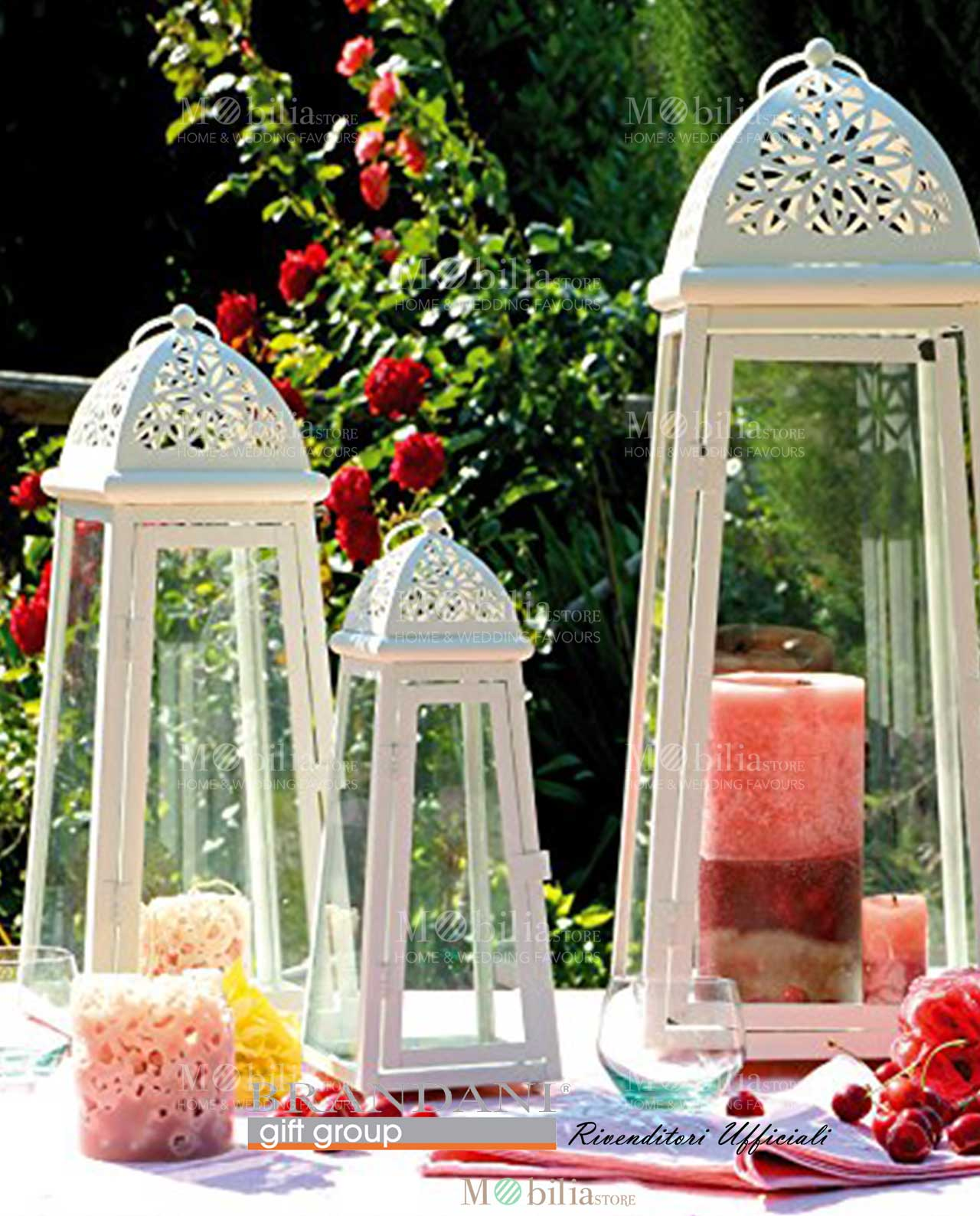 lanterne brandani cattedrale bianche grandi metallo e vetro