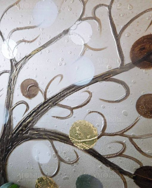 quadro albero della vita con macchie di colore