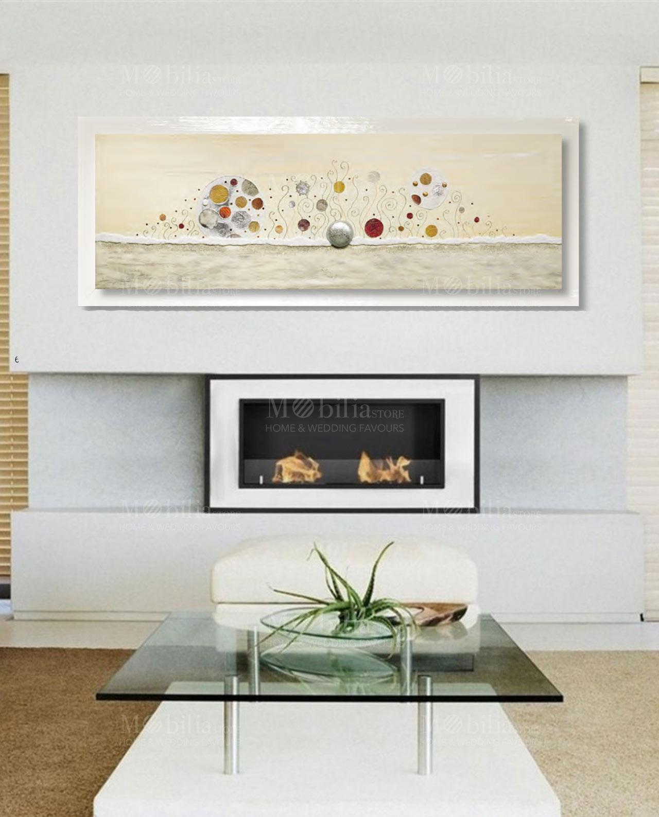 quadro moderno astratto con swarovski