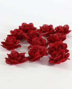 rose rosse segnaposto o decorazione