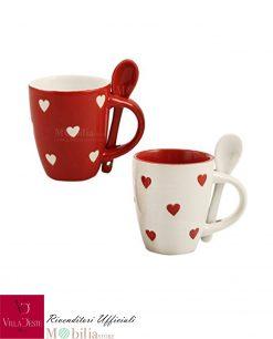 set tazzine caffè ceramica corazon villa deste