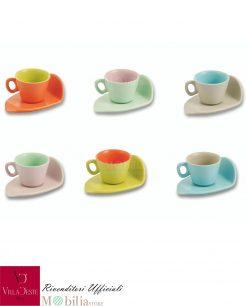 tazzina da caffè ceramica colorata daily villa deste