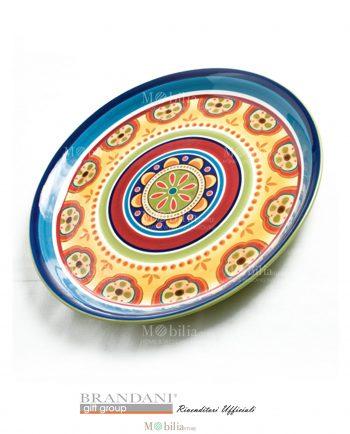 Piatto da Portata Tondo Ceramica Brandani